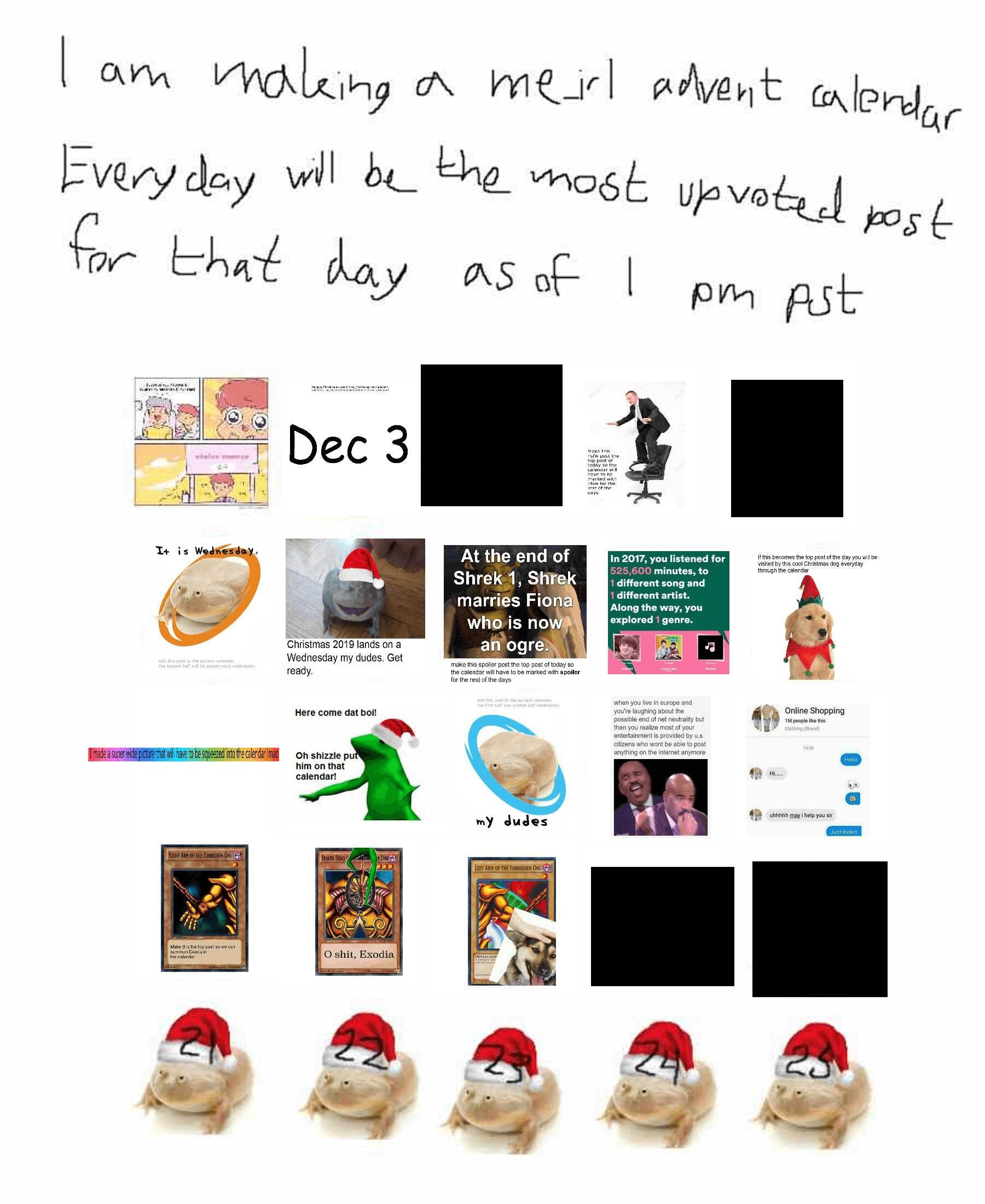 r/me_irl advent calendar 2017 - Dec 25